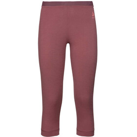 Odlo SUW Natural 100% Merino Warm 3/4 Pants Women roan rouge